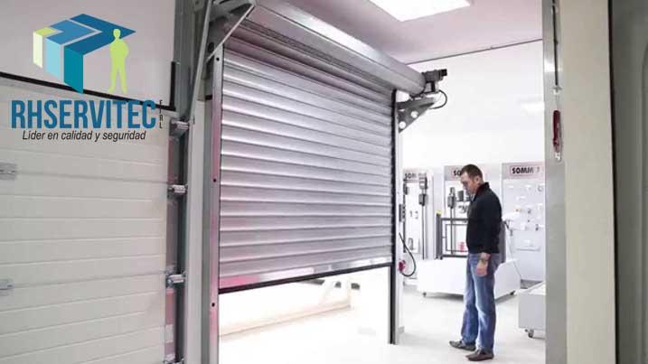 Puertas enrollables a control remoto, sistema automático